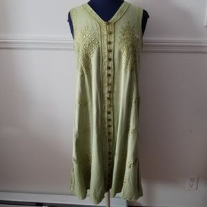 OS Green Sleeveless Dress NWT